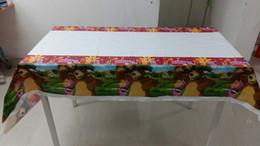2017 Plastic Rectangle Tablecloths Wholesale  Masha And The Bear Plastic  Rectangle Printing Tablecloth 108*