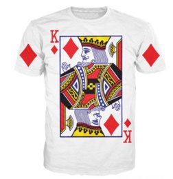 China 2017 New Arrive King of Diamonds T-Shirt Sexy Tee Shirts Funny Playing Card T Shirt Vibrant Tee Sexy Casual Tshirt for Women Men S-5XLKK67 cheap sexy cards suppliers