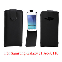 Vertical Leather Bag Canada - Phone Bags Flip Cover For Samsung Galaxy J1 Ace J110 phone case Back coque leather Flip Vertical Up-Down Open skin pouch Phone Cover