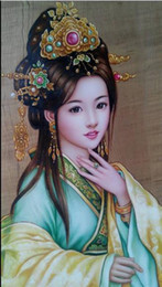 chinese hand paintings Australia - ancient Chinese young girl beauty,Hand-painted portrait Art Oil painting On High Quality canvas,Multi sizes Available DH058