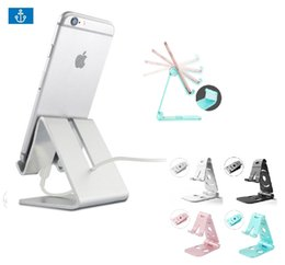 Wholesale Universal Aluminum Metal Phone Stand Holder For iPhone s X Tablet Desk Phone Holder Stands For iPad Smartphone Support