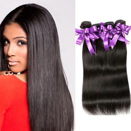 $enCountryForm.capitalKeyWord NZ - Unprocessed Virgin Human Hair 4 Bundles Peruvian Malaysian Brazilian Human Hair Extensions 8-30 Inch Natural Color Straight Hair Weaves