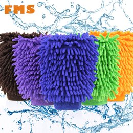 Detailing For Cars Australia - Wholesale- Top Fashion Car Wash Glove Ultrafine Fiber Chenille Soft Towel Microfiber Cars Cleaning Care Detailing For Automotives Household