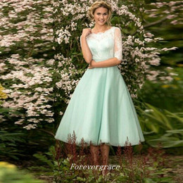 cheap quality coral bridesmaid dresses NZ - High Quality Cheap Junior Mint Green Bridesmaid Dress Tea-Length Short Maid of Honor Dress Wedding Guest Gown Custom Made Plus Size