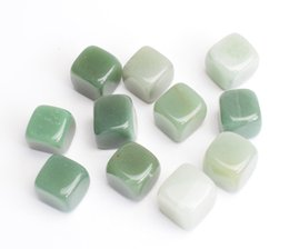$enCountryForm.capitalKeyWord NZ - 1 2 lb Bulk Natural Tumbled Green Aventurine Carved Cube Crystal Reiki Healing Semi-precious Stones with a Free Pouch