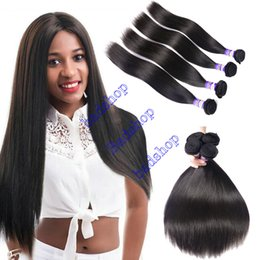 7a grade virgin hair ombre 2019 - badshop hair Product Brazilian Hair Straight 3Bundles High quality Grade 7A 100% virgin human hair Weaves Dyeable 100g p