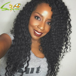 Deep Curly Indian Lace Wig Australia - Hot New Deep Curly Lace Front Wigs Glueless Full Lace Wig Human Hair Wigs with Baby Hair Bleached Knots