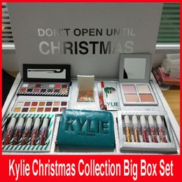 Cajas De Sombras Baratos-Kylie Jenner Christmas Collection Edition Naughty Nice Eyeshadow Kylie Vacation Edition Colección Paquete Comestic Makeup Kit Big Box Set