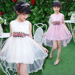 $enCountryForm.capitalKeyWord Canada - Summer Kids Girl's Tutu Lace Dresses Sweet Elegant White Dress Birthday Party Princess Top tutu dresses for baby girls