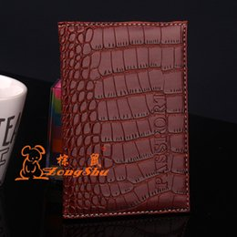 Leather Passport Cover Wholesale Canada - Artificial PU Leather Women Men's Passport Cover Case Holder - Couple Models Travel Passport Cover Unisex Card Case Holder