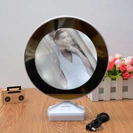 Picture frames led lights online shopping - Creative Magic Inch Multi function LED Light Photo Frame With Mirror Wedding Picture Frame Art Home Decor