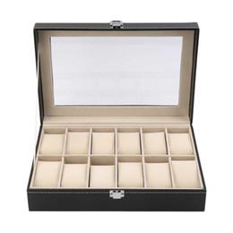$enCountryForm.capitalKeyWord UK - 12 Slots Grid Watch Box Display Jewelry Storage Organizer - PU Leather Watch Case Display Box Caixa Para Relogio