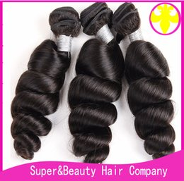 Dyeing Hair Black Australia - Grade 8A Brazilian Hair Extentions Loose Wave For Black Women Belle