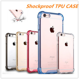 Cove Case Canada - Air Cushion Luxury Clear Anti-Knock Shock Proof Soft Silicone Colorful TPU Case For iPhone 7 6 6S Plus Crystal Transparent Slim Cove Gel