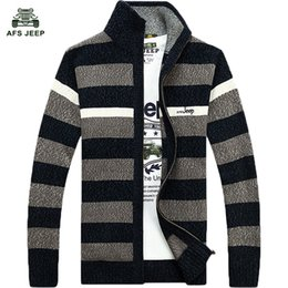 knitted pullover for men UK - striped sweater for men dress 2016 quality cardigans plus size M -3XL 75