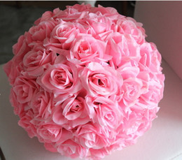 $enCountryForm.capitalKeyWord Australia - New Design Artificial Wedding Flower Ball Decor Decorative Rose Silk Ornaments Kissing Ball Decorate Christmas Decoration Hanging Party