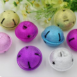 $enCountryForm.capitalKeyWord Canada - 100pcs lot Frosted Surface Pet Bells Mixed Colors Animal Pet Dog Bells Cute Small Ringing Bells