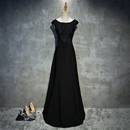 Really Dresses Australia - Really Photo Black Satin With Appliques Backless Lace Up Floor Length A-Line Short Sleeves Plus Size Long Prom Party Dress Vestido de noche