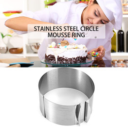 hot sale 1 pc retractable stainless steel circle mousse ring baking tool set cake mould mold size adjustable bakeware 1630cm - Bakeware Sets
