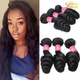 $enCountryForm.capitalKeyWord Canada - Factory 7A Brazilian Human Hair Weft Natural Color Can Be Dyed Virgin Human Loose Weave Extension Machine Double Weft 3Bundles 100g pcs
