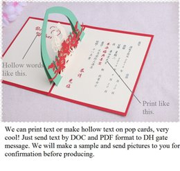 Invitation text online wedding invitation cards text for sale laser cut wedding invitations wedding favors 3d wedding invitations cards customized hollow text pop up cards party favors with envelope stopboris Gallery