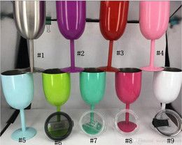 Wholesale usa glasses for sale - Group buy 10 DAYS TO USA oz Wine Glasses WINE GLASS stainless steel goblet Bilayer oz ml Wine Glasses color