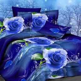 Home Free Bedding Set Australia - Wholesale-OKCO Flower 3d bedding set,Home textiles 4pcs family set. include: Duvet cover sheet pillowcase,Brazil Free Shipping