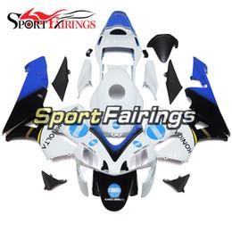 Honda F5 Canada - White Blue Full Fairings For Honda CBR600RR F5 03 04 CBR600 rr 2003 2004 Motorcycle Fairing Kit Injection ABS Plastics bodywork Covers