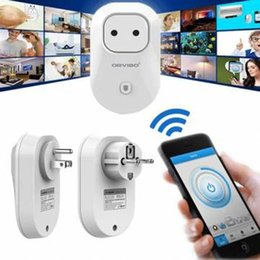 Power Wireless Remote Control Switch Socket Canada - Wireless Remote Control Switch Timer Smart Power Socket EU US Plug Support WiFi Network Pearl white LED_80B