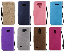 Discount purple phone covers - Bear Don't Touch My Phone Wallet Leather For Galaxy S8 Edge Plus (J7,J3,A5,A3)2017,J720,J320,A520,A320 Case Flip Co
