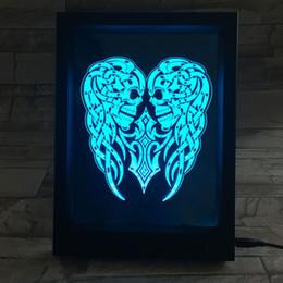 $enCountryForm.capitalKeyWord Australia - 3D Snake Skulls LED Photo Frame Decoration Lamp IR Remote 7 RGB Lights DC 5V Factory Wholesale Drop Shipping