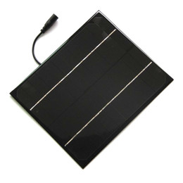 laptop panels Canada - High Quailty 6W 12V Mono Solar Cell 5521DC Cable Mini DIY Solar panel System For Battery Charger Education Kits Free Shipping