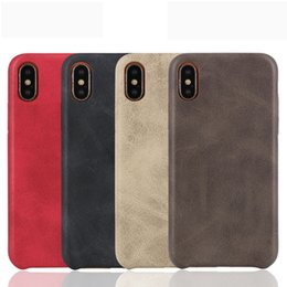 Discount iphone pattern Retro Leather Pattern Stitching Phone Case for iPhone XS Max XR X 8 7 6 Plus Soft TPU Back Cover Shell