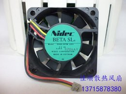 Discount dual hard drives - Original NIDEC 6015 5V D06R-05TM 12H1 5V 0.34A 3 line hydraulic fan