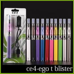 Ego starter kit CE4 atomizador cigarrillo electrónico e cig kit 650mah 900mah 1100mah EGO-T batería blister case Clearomizer E-cigarette Dhl