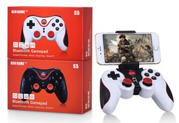 $enCountryForm.capitalKeyWord Canada - Gen Game S5 Wireless Bluetooth Gamepad Joystick for Android IOS Smartphone Tablet PC Remote Controller With Holder With Wireless