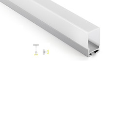 Wholesale 50 X M sets professional customized aluminium led profile and deep cover alu u extrusion for ceiling or pendant lights