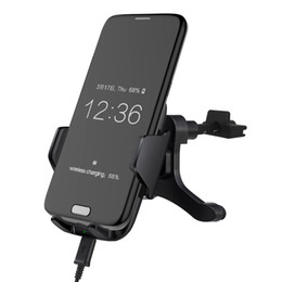 phone holder lg g4 2019 - Car Phone Holder Qi Wireless Charger For Samsung S6 S7 Note5 S6 edge+ S7 edge LG G3 G4 Charging Pad Phone Holder Mount C