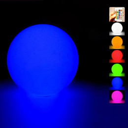 water color change plastic Australia - New Waterproof floating water LED Ball colorful changed Rechargeable led ball 20cm 30CM 40cm RGB color for home garden swimming pool decor