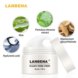 Wholesale 2017 New Style LANBENA Blackhead Remover Nose Mask Pore Strip Black Mask Peeling Acne Treatment Black Deep Cleansing Skin Care