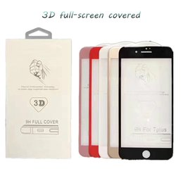 anti glare film glasses UK - For Iphone 7 Plus Iphone 6S Plus 5S Top Quality Tempered Glass Film Screen Protector 3D Full screen coverage Anti-shatter Screen Protector