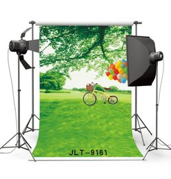 $enCountryForm.capitalKeyWord Canada - spring green screen tree bike photography backdrops vinyl cloth backgrounds photocall for wedding children baby newborn for photo studio