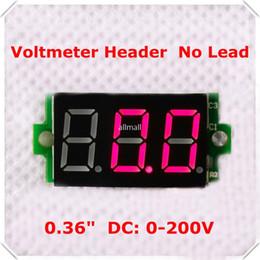"$enCountryForm.capitalKeyWord UK - Freeshipping 100PCS\lot 0-200V 0.36"" Digital Voltmeter dc Lead-free 3 digit Voltage Panel Meter led Display"