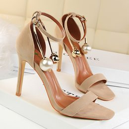 red gladiator pumps 2019 - Beading Metal Ball Sandals Women Pumps Heels PU Leather Open Toe Thin High Heels Festival Party Wedding Shoes Formal Pum