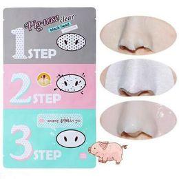 Pig Face Masks Australia - Holika Pig Nose Mask Blackhead Remover Nose Mask Three-step Kit Deep Cleanser Korean Cosmetics Face Nose Treatment Mask CCA6613 1000pcs