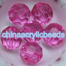 Bubblegum Charms NZ - Hot Sale 10MM Acrylic Crystal Faceted Round Beads Clear Transparent Bubblegum Necklace Beads Chunky Loose Spacer Beads Charms