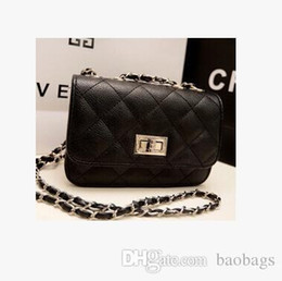 $enCountryForm.capitalKeyWord Australia - 6 color Pinkycolor Women Lady PU Leather Diamond lattice chain bags Shoulder flap leather phone package Purse Cross Bags