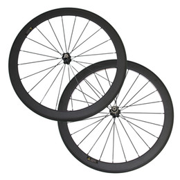 Discount road race wheels - In Stock Under $300 50mm Clincher Carbon Wheels 3K Matte 700C Road Bicycle Carbon Racing Wheelset Cheap Novatec Hub 2 da