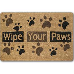 door welcome rubber floor mats bathroom dog paw area rugs kitchen bedroom hallway antislip modern large flooring printed carpet