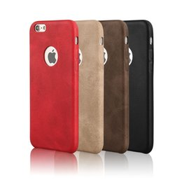 Iphone Backcover UK - For Iphone 7 7Plus 6 6S 6plus Leather Case Backcover Protective Back Plating PU Soft Case Cover